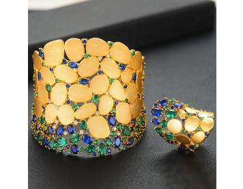 دستبند و انگشتر طرح سنگ کد 291