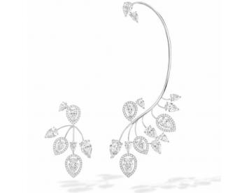 گوشواره جواهر طلای سفید کد 294