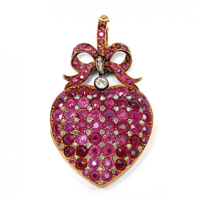 مدال یاقوت قرمز مدل قلب کد 302