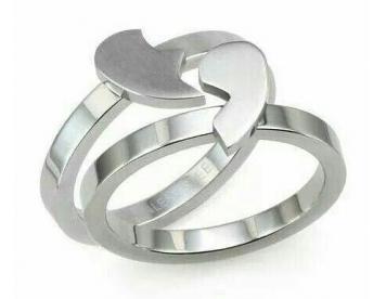 حلقه ست ترکیبی قلب کد G163