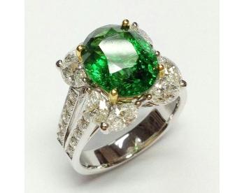 انگشتر زمرد جواهرات مارکیز کد G249