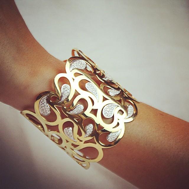 دستبند النگویی طرح طلا کد G262