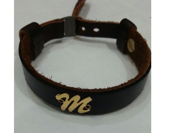 دستبند مردانه چرم کد G264