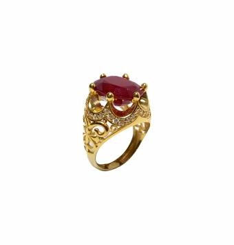 انگشتر یاقوت طلا کد 105