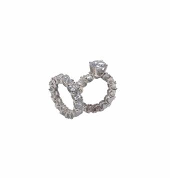 حلقه و پشت حلقه جواهر کد 112
