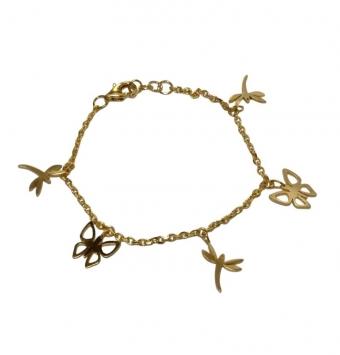 دستبند آویز مدل پروانه کد 132
