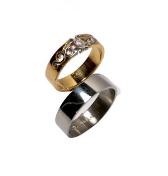 حلقه ست طلا و پلاتین کد 139