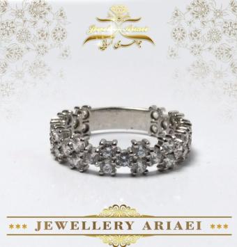 انگشتر جواهر چهار پر کد 158