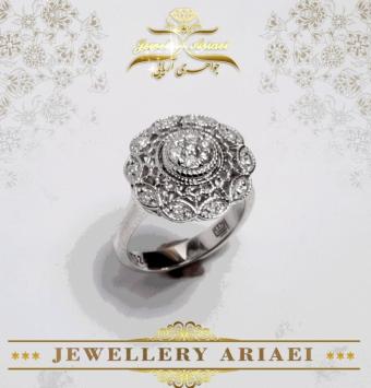انگشتر جواهر فلاور کد 180