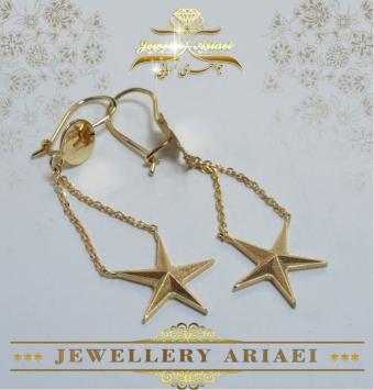 گوشواره طلا ستاره کد 195