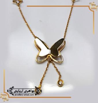 مدال پروانه طلای زرد کد 236