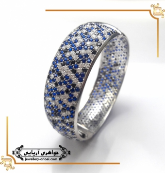 دستبند طلا سفید مدل جوشیده کد 238