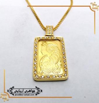 مدال قاب اونس طلای زرد کد 247