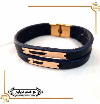 دستبند چرم مردانه مدل فانتزی کد 262