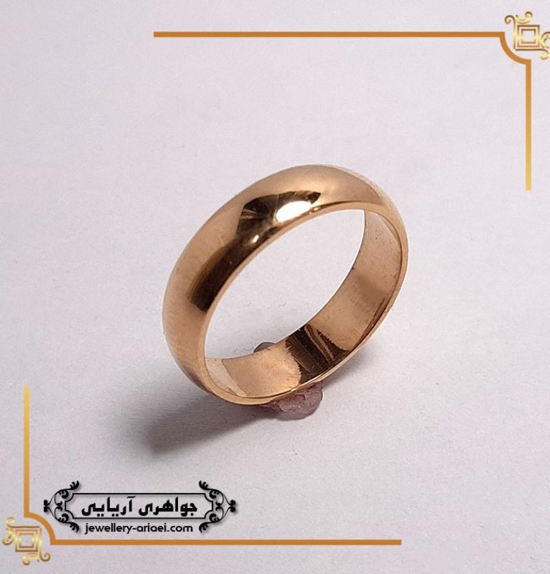 حلقه رینگ طلای ساده کد 264