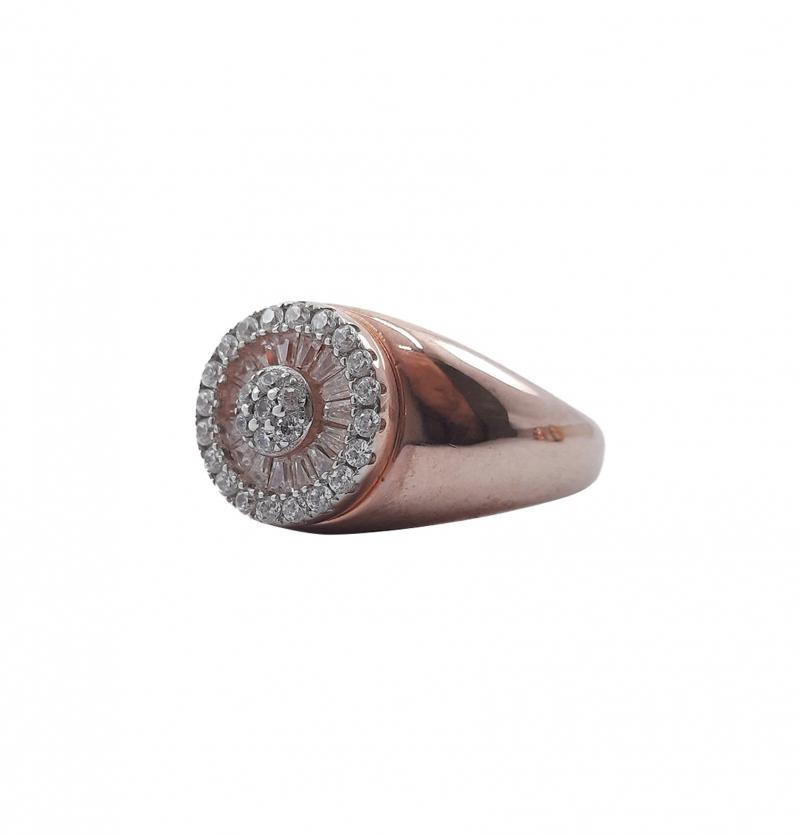 انگشتر نقره مردانه رزگلد