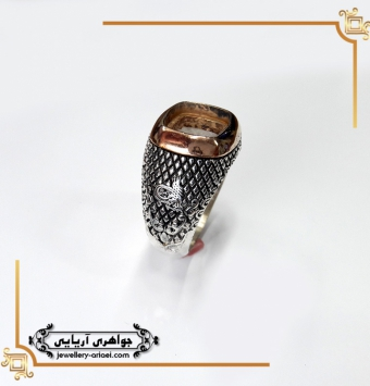 انگشتر مردانه مزین به نام الله