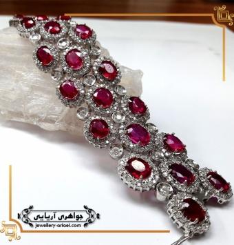 دستبند جواهر مدل شکوفه کد 240